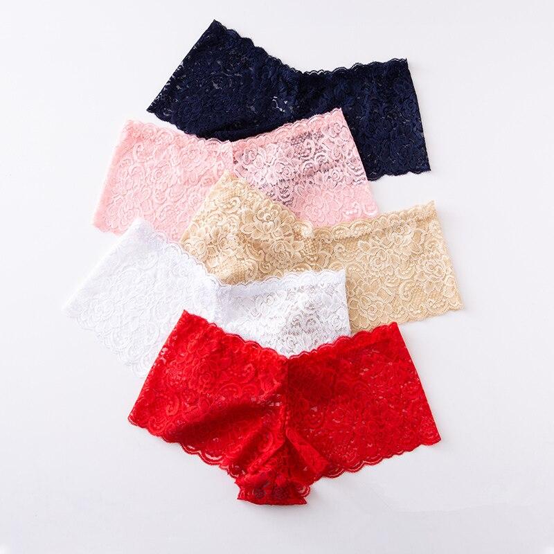 3pcs Women Underwear Lingerie Sexy Lace Transparent   Panties   Tempting Pretty Briefs High Quality Low Waist Women's Underpants
