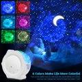 6 цветов океана, развевающиеся светильник старый проектор звездного неба светодиодный Туманность Облако ночной Светильник 360 градусов вращ...
