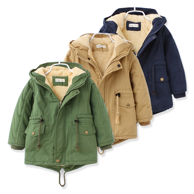 Fashion warm Kids Winter Coats for boys Jacket Girls Winter Parka 3 colour Toddler Warm Clothes Long Autumn Winter Coat For Girl