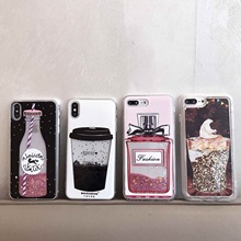 Glitter Bottle Coffee Ice-Cream Quicksand Phone Case For iPhone and Samsung – FREE Shipping