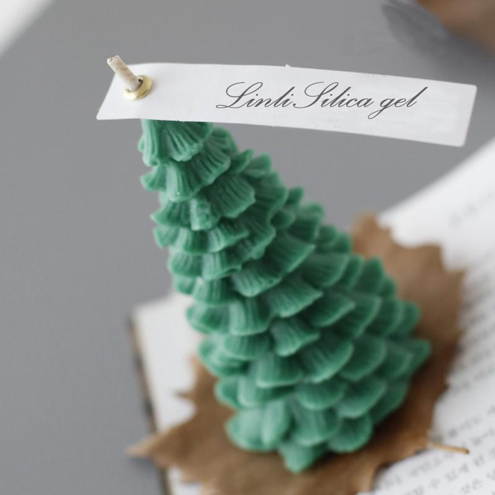 Great Mold 3D Christmas Tree Candle Mold Christmas Party Silicone Candle Molds Resin Art Crafts Silicone Molds Christmas Tree for Cake Decoration