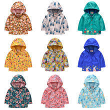 Girls Jacket Clothing Hooded Spring Autumn Children's And American Long-Sleeved European
