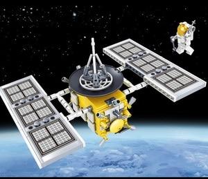 Image 3 - Ewellsold צעצועי תחנת החלל שבתאי V רקטות אבני בניין לילדים עיר הסעות לווין אסטרונאוט איור לבנים