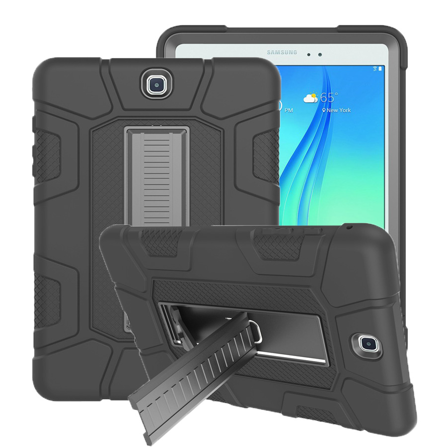 New Armor Case For Samsung Galaxy Tab A 9.7 SM-T550 SM-T555 T550 P550 Silicon Shockproof Stand Skin Shell Tablet Case+Film+Pen