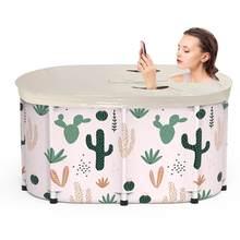 Baignoire Sauna adulte baignoire pliante Portable épaississement baignoire cylindrique V PVC seau de bain adulte enfants piscine
