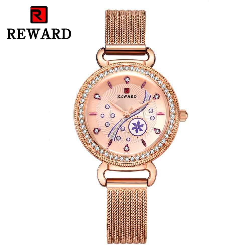 Горячая Распродажа Мода 2019 женские часы из нержавеющей стали ремешок для часов 3D цветок повседневные наручные часы женские часы подарок для девушки