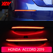 Car LED Reflector  Rear Fog Lamp Rear Bumper Light High brake light Brake Light Rear warning light For Honda  Accord 2019