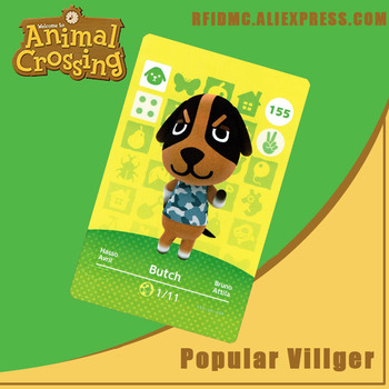 155 Butch Animal Crossing Card Amiibo For New Horizons
