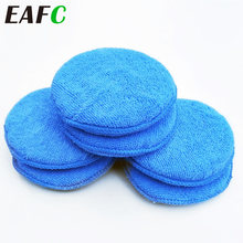Esponja de cera para coche, aplicador Manual de microfibra suave de 5 pulgadas, esponja de pulido con bolsillo para aplicable, elimina la cera, cuidado automático