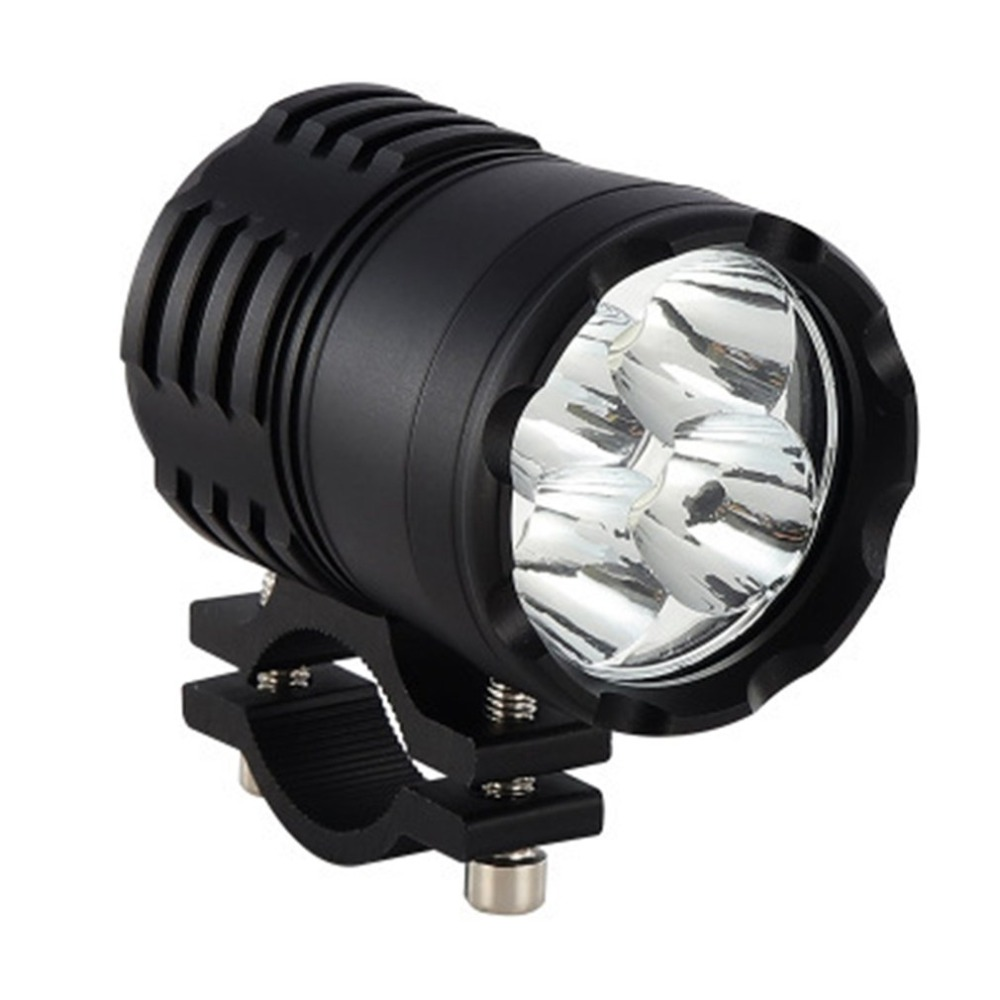 Motorcycle Round Spotlight Head Light 4 LED Chips Headlights Ultra Bright Lamp Bulb CNC Motorbike Dirt Bike Scooter