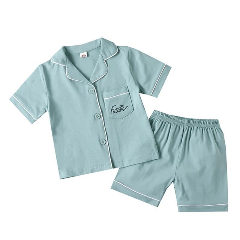 SAILEROAD 2020 Children Pajamas For Girls Cotton Short Pyjamas Kids Pijama Infantil Boys Sleepwear Child Home Wear Clothes Suits 4