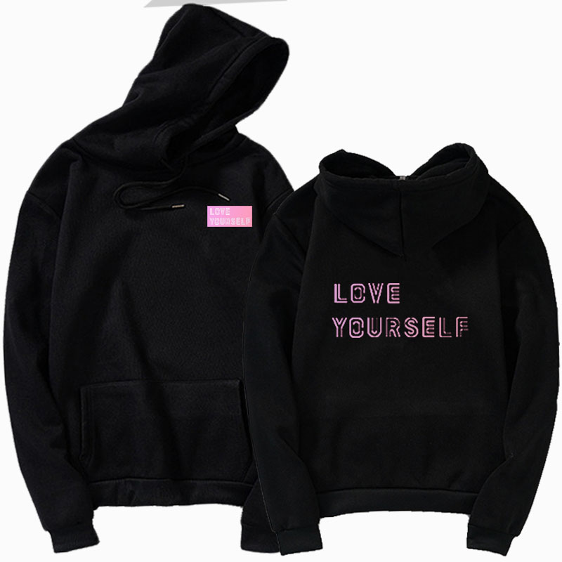 Kpop Love Yourself Felpe Roupas Sweatshirt Bangtan Hoodies & Sweatshirts Women's Clothing Round Neck Top Sweatshirt Hoody