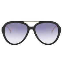 SHEN NUO Top Design Luxury Ladies Large Frame Small Face Circular Multicolor Sunglasses Gradual Change Driving Oculos De Sol1915