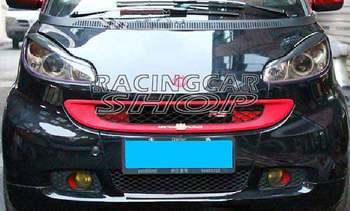 REAL CARBON FIBER SMART fortwo (451) Coupe/Cabrio Headlight Brows Lids Eyebrows Eyelids 07-14 M115E 1