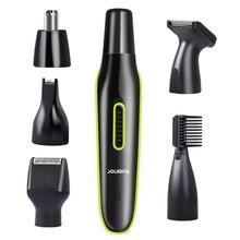 4in1 חשמלי שיער גוזם זקן trimer עבור גברים פנים גבות זיפים שיער חותך מכונה תספורת שפם טיפוח סט usb