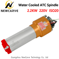2.2KW Water Cooled ATC Spindle Motor 220V ISO20 Automatic Tool Change Spindle For Mental Cutting GDL80 20 24Z/2.2 NEWCARVE