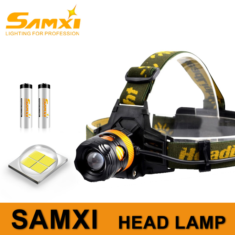 Zoom Headlight Charging Yellow And White Dual Light Fishing Headlamp LED Power Light For Hunting Rechargeable LED Flashlight