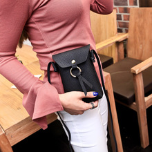 sling bagLow-Cost Supply of Korean Women's Bags 2020 New li zhi wen xin feng bao Shoulder xie kua bao Mobile Phone Bag Mini li wen envy 200g