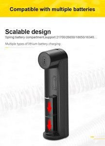 Image 3 - VOXLINK pil şarj cihazı akıllı şarj 1 yuvası USB 18650 26650 18350 32650 21700 26700 26500 Li ion şarj edilebilir pil şarj cihazı