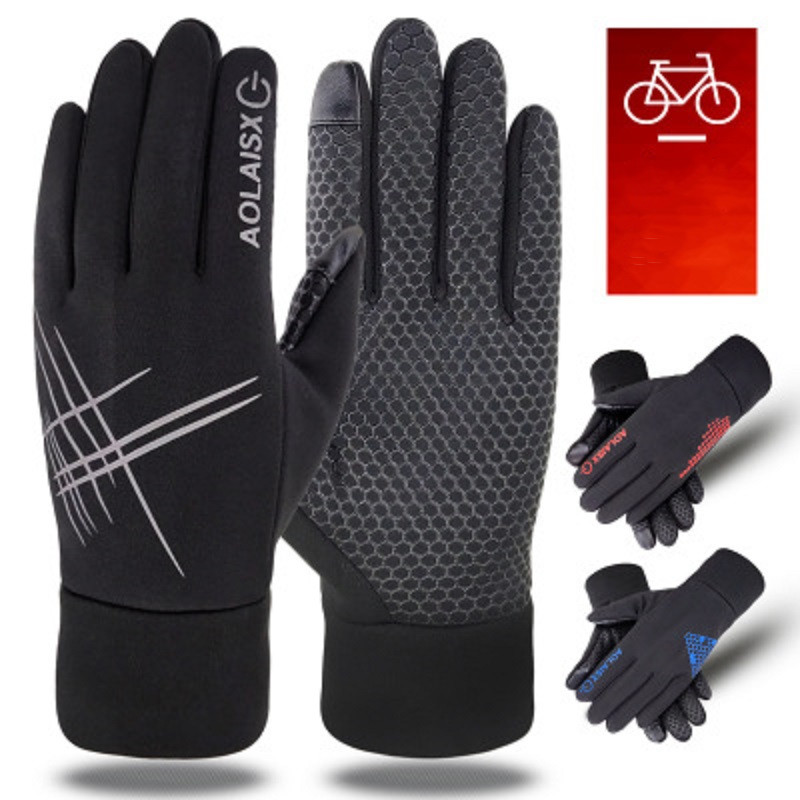 Riding Winter Gloves Newest Wind Water-proof Warm Touchscreen Gloves Men Women For Cycling Running Outdoor Activities