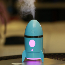 135ml Rocket Air Humidifier Ultrasonic Essential Oils for Aromatherapy Diffusers Timer Water Fogger Mist Maker with Aroma Lamp b ja94 mini pumpkin shape air humidifiers 1l 25w mute essential aromatherapy diffusers mist maker with antibacterial water tank