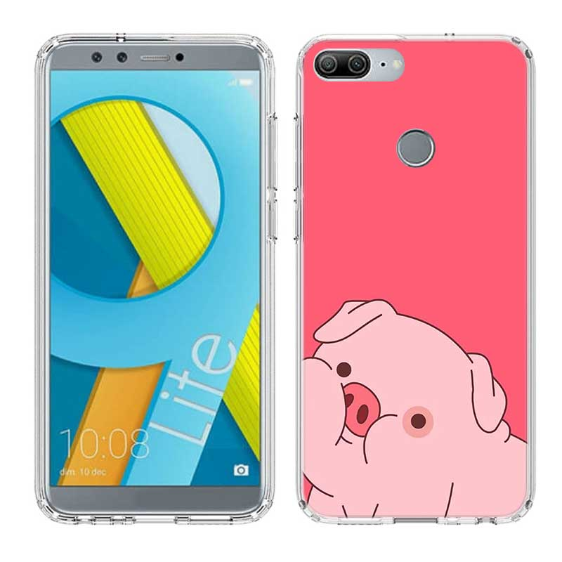Uyellow Silicone Trend Phone Case For Huawei Honor 8A 8X 8C 8S 9 10 20 lite Pro For Hawei Honor 20i V20 Cute Pig Animal Cover in Fitted Cases from Cellphones Telecommunications