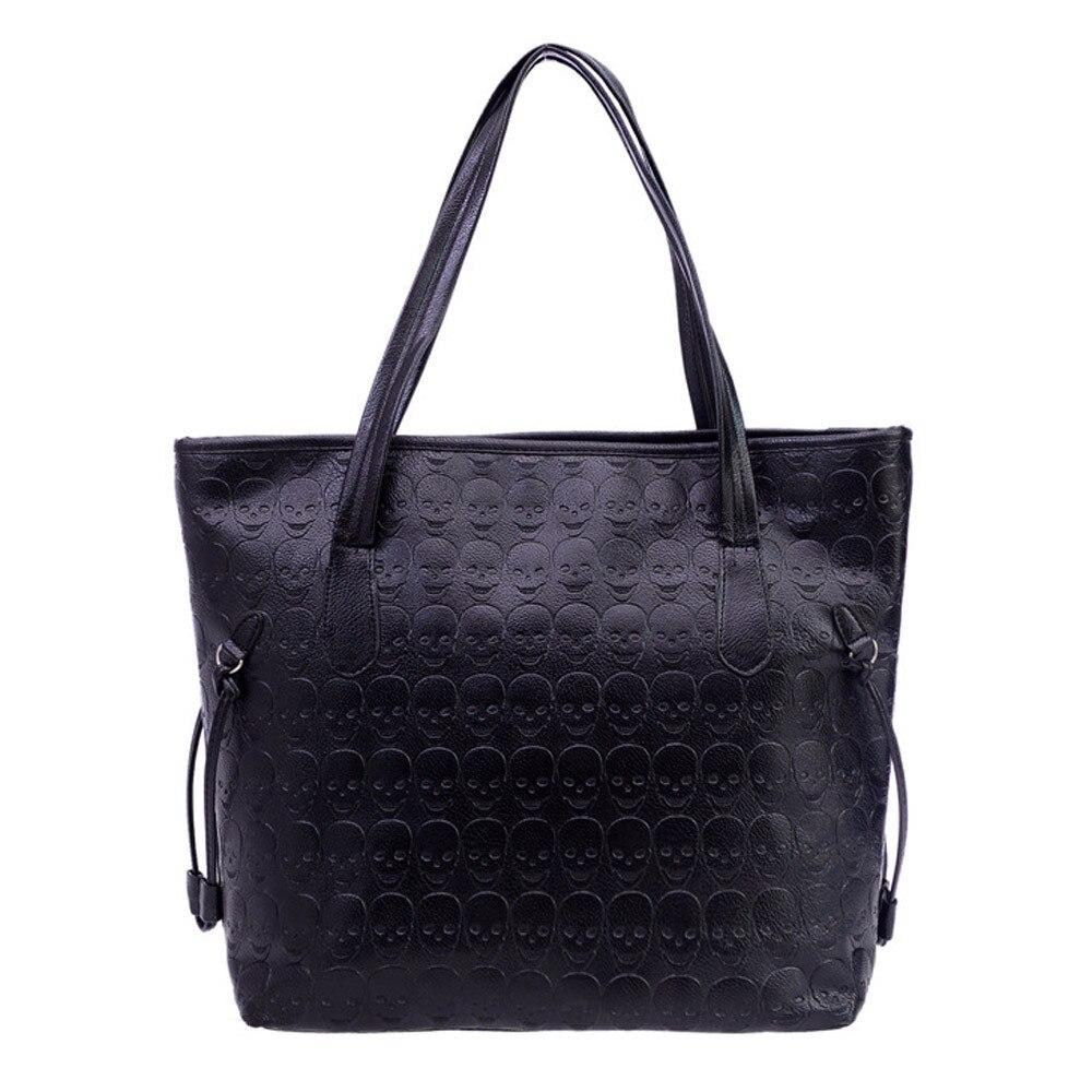 Женская кожаная сумка-тоут в стиле ретро, с тиснением
