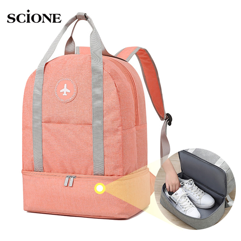 Dry Wet Women Fitness Gym Backpack Independent Shoes Bag Shoulder Training Swimming Travel Sac De Sport Gymtas 2020 Swim XA899A