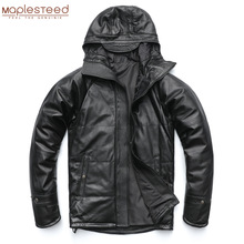 Coat QUILTED HOOD Long-Clothing Men Winter Warm Thick M490 100%Natural