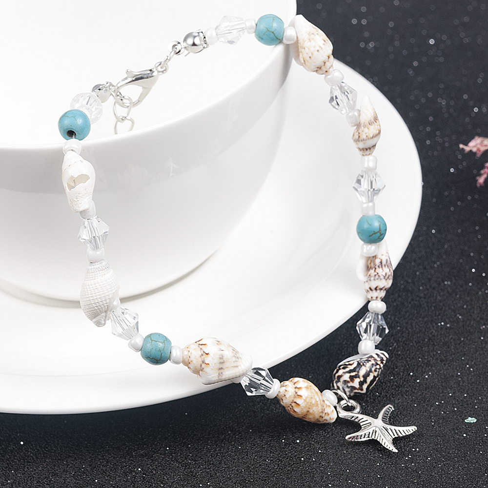 2019 New Simple Boho Women Bead Shell Anklet Ankle Bracelet Barefoot Sandal Beach Foot Jewelry 2
