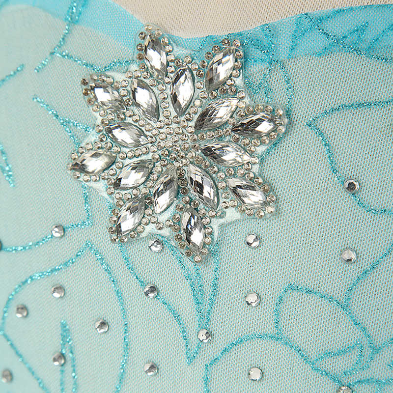 طفل فتاة فساتين للبنات إلسا الأميرة فستان ملكة الثلج إلسا زي بلينغ الاصطناعية كريستال صد فستان الحفلات ملابس الاطفال