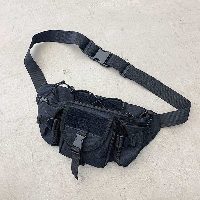 Unisex Chest Bags Canvas Shoulder Bag Boy Street Style Crossbody Packs Men Casual Fanny Pack Multi-functional Tactical Backpack