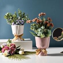 Европейский Креативный букет ваза в форме банта керамическая