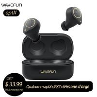 Wavefun XPods 3 Wireless Headphones HIFi aptX Bluetooth Earphone IPX7 Waterproof Touch Control True Wireless Earbuds Workout