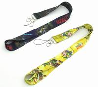 60 pcs Cartoon Japanese anime Neck Lanyard ID Badge Holders Mobile Neck Keychains For Party Gift WE 36