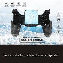Dissipação de calor do semicondutor do fã de refrigeração dos joysticks do jogo do aperto do disparador do controlador do jogo de bakeey para o telefone de android ios de 4 6.5 polegadas