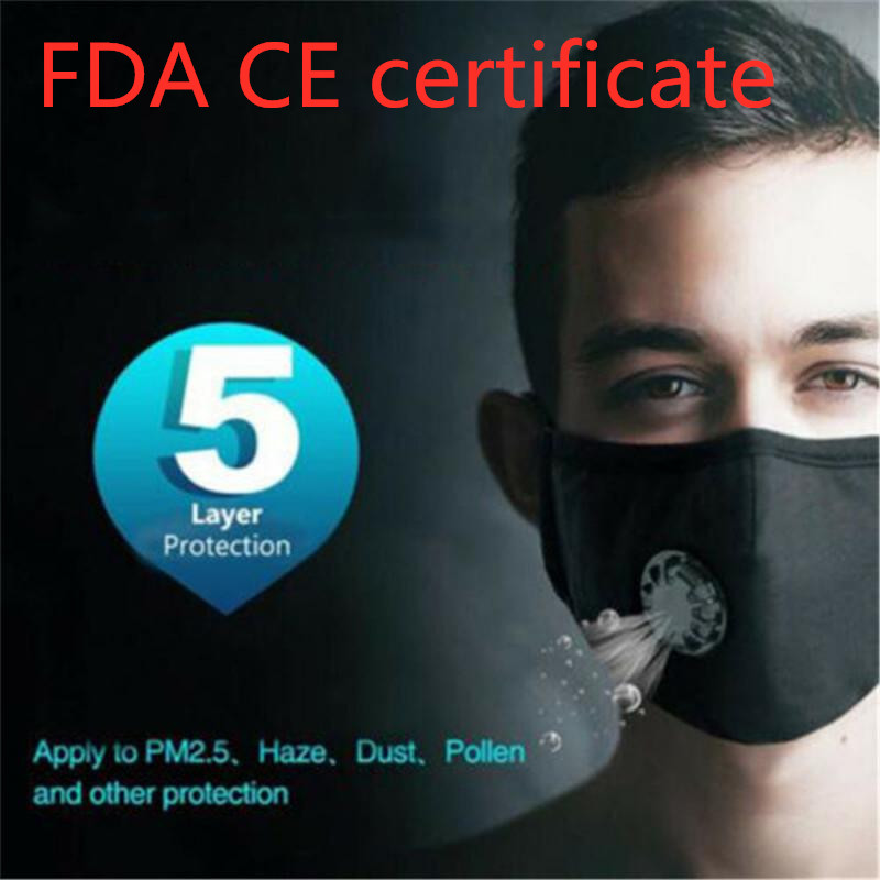 Dust Mask FFP3 5 Layer Filter With Breathing Valve N95 Mask Dust Respirator Washable Reusable Mask Mouth Muffle Care