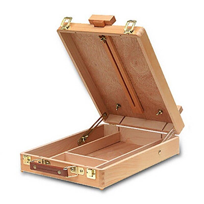 Fillet Desktop Pencil Case Laptop Box Easel Painting Hardware Accessories Multifunctional Painting Suitcase Art Supplies Artist