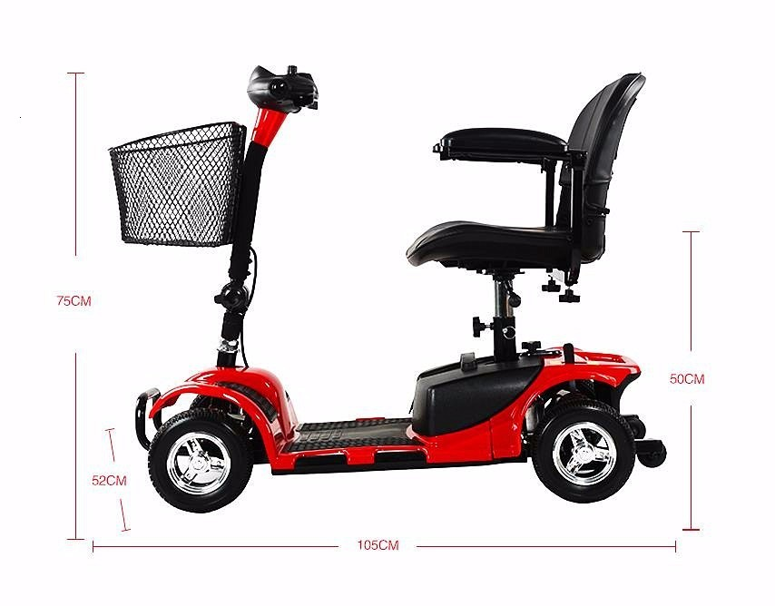 Electric Scooter For Elderly Four Wheels Electric Scooters 8 Inch 24V 250W Electric Kick Scooter For AdultsDisabled (10)