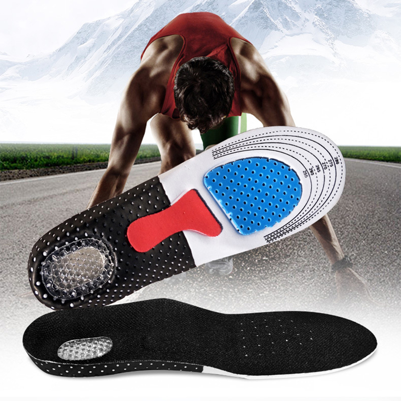 Silicone-Gel-Insoles Arch-Support Shoes Sole Orthopedic-Pad Massaging-Shock Feet Running
