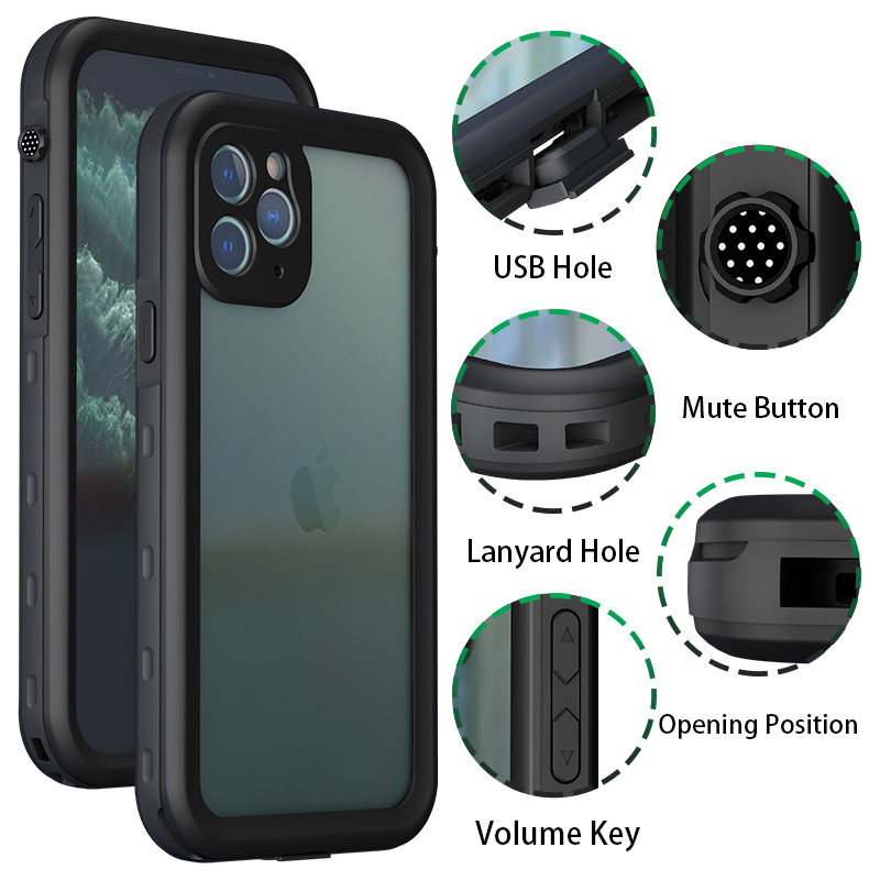 Waterproof Phone Case For iPhone 11 Pro Max (8)