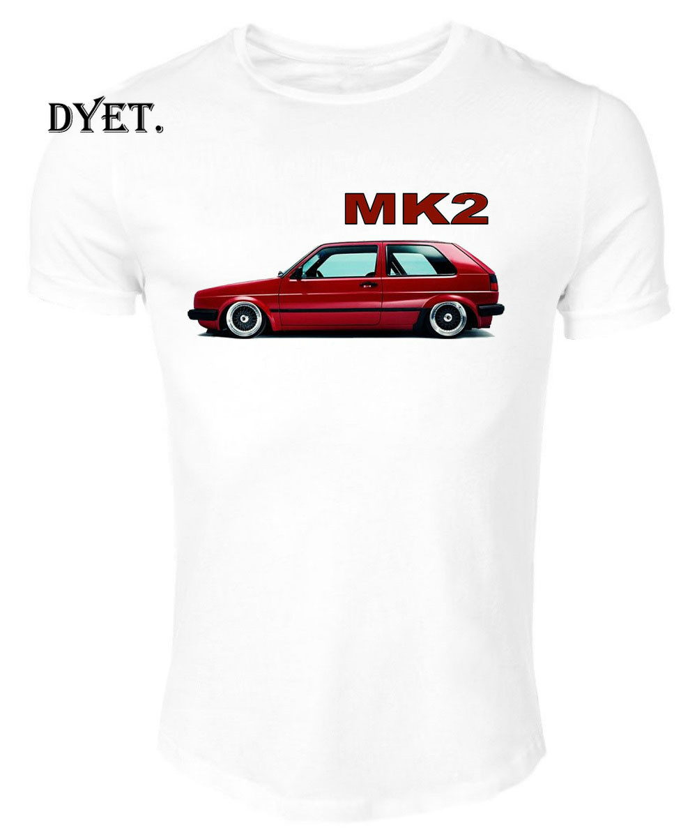 T-Shirt White Germany Classic Legend Car Golf Gti Red Mk2 Summer IMANFIVE Cotton Men Fashion Style Fitness Brand Movie T Shirt image