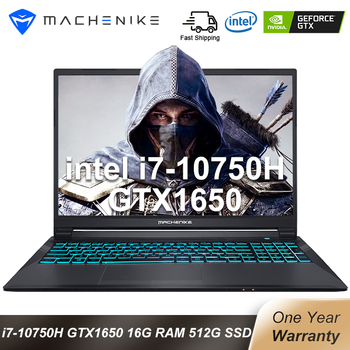 Machenike T90 Newest Gaming laptop i7 10750H GTX1650 Computer Laptops 16GB RAM 512G SSD 1T HDD 15.6'' 6mm Border IPS Notebook 1