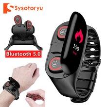 Смарт часы SYSOTORYU M1 монитор сердечного ритма Bluetooth наушники фитнес трекер кровяное давление умные часы для IOS Android телефон