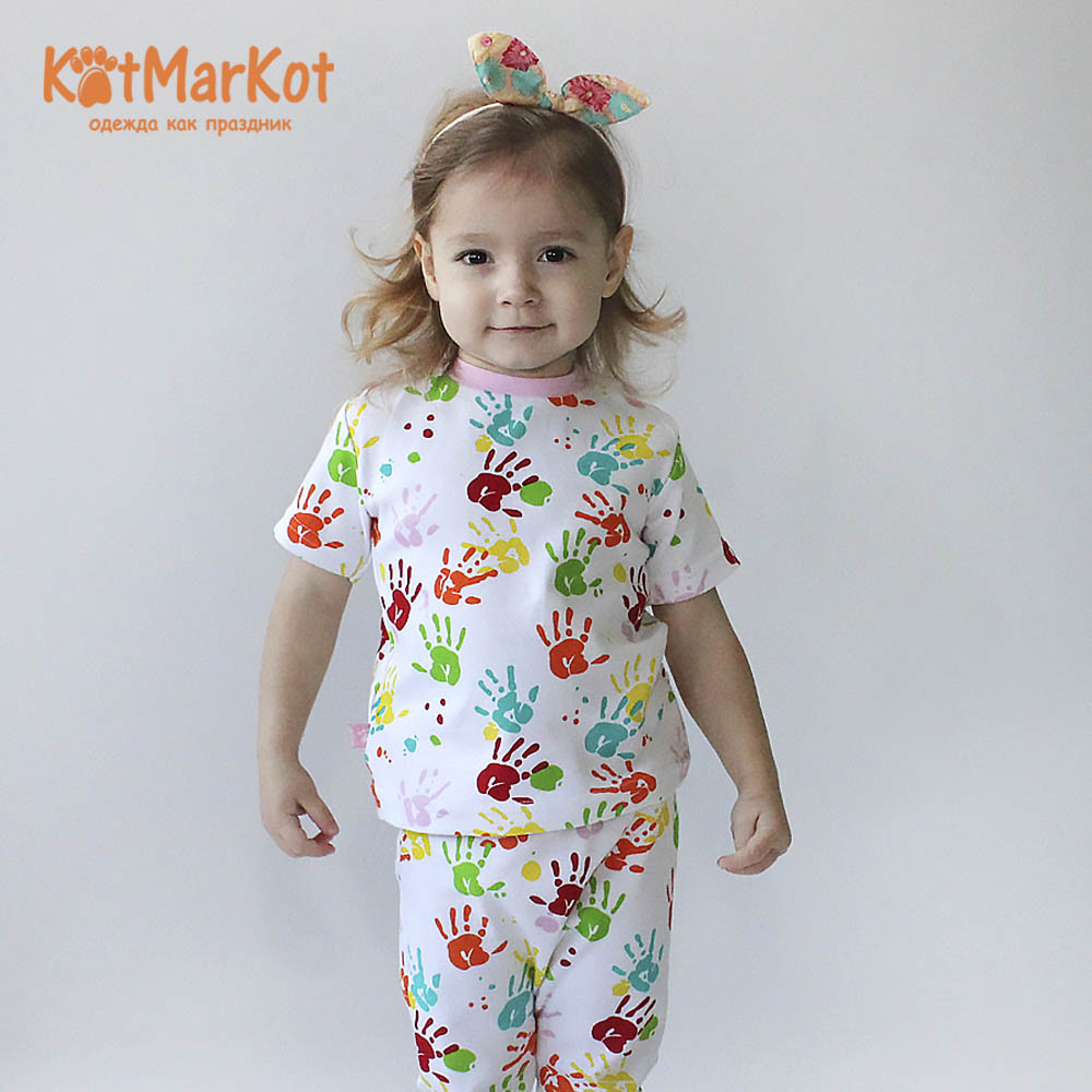 Фото - T-Shirts Kotmarkot 7795р for children t-short Jersey tee shirt baby clothes Cotton cat sotmarket Baby Girls Casual Print men halloween print tee