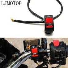 Conector interruptores universales para motocicleta, botón de encendido/apagado para Yamaha WR250R WR250X WR450 wr 450 f SEROW 225 250