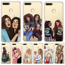 Girl luxury For huawei Y5 Y6 II Prime Nova 2 3 4 3i Plus 2018 2017 phone case Cover Coque Etui funda etui capinha capa WOMAN