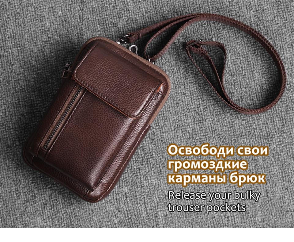 Cobbler lenda couro genuíno bolsa masculina multi