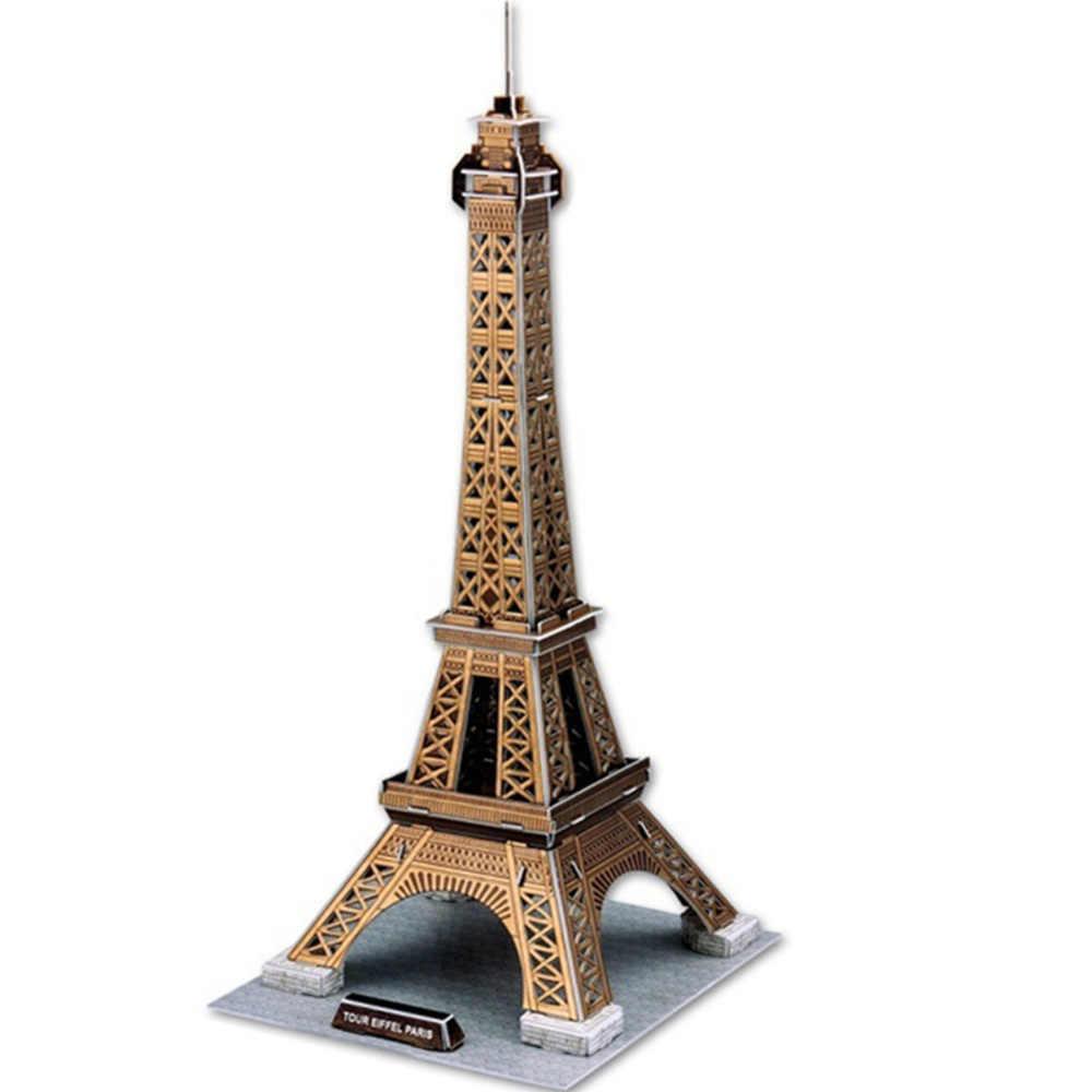 Classico Puzzle Di Puzzle Francia La Tour Eiffel Torre Chiarisca Costruzione In Mattoni Giocattoli Modelli in scala Insiemi Mondo Costruzione di modello di Carta