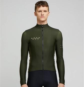 Camiseta de manga larga de Ciclismo profesional, térmico y polar, para invierno